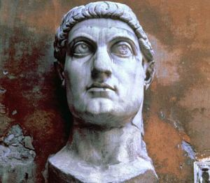 Remains of the colossal statue of Constantine (Source: BBC)