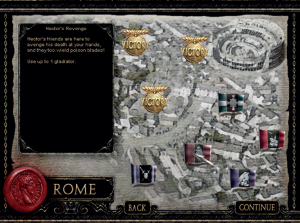 The dead past as frame for the living: Gladiators of Rome (PC: 2002).