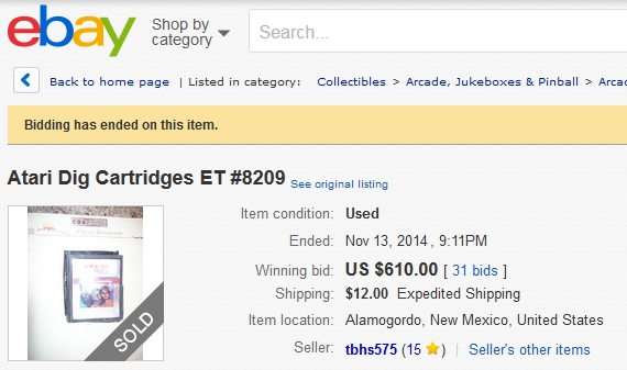 eBay Item 8209