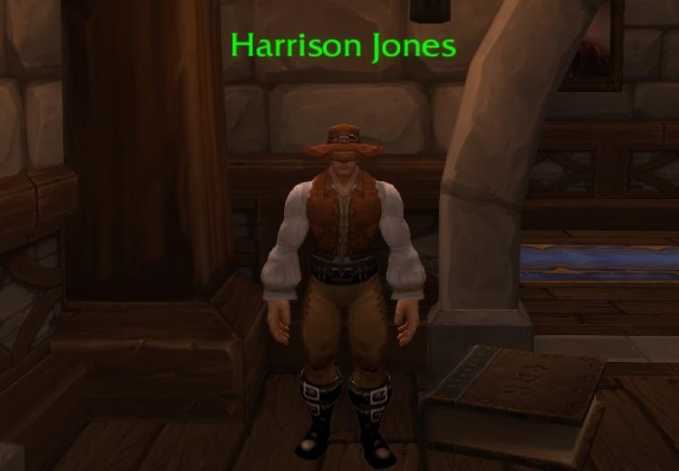 (Harrison Jones, an NPC in World of Warcraft)