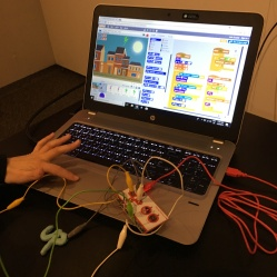 Guests can make new games with Scratch software, Maker Maker electronics, and PlayDoh.