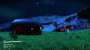 Arrival at Sanctuary, greeted by a generic base unit and comm station.